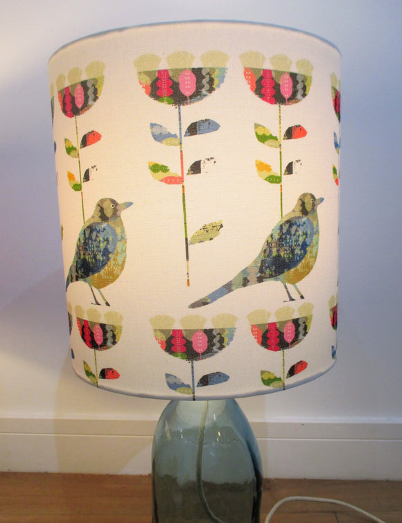 Bird and Tulip contemporary designer lampshade by Rosimorosi