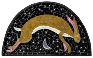 Mosaic picture by Martin Cheek 'A Leaping Hare'