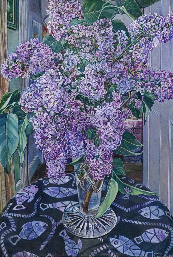 Oil painting by Margaret Foreman - Lilacs - Nice Things Ramsgate
