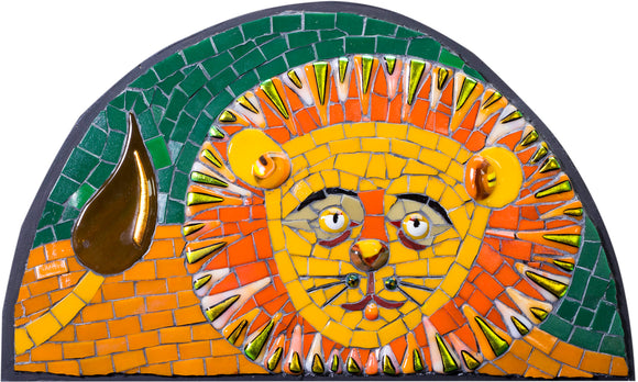 Mosaic picture by Martin Cheek 'A Lyin' Lion'