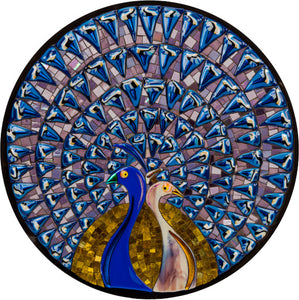 Mosaic picture by Martin Cheek - Pensive Peahen Penny