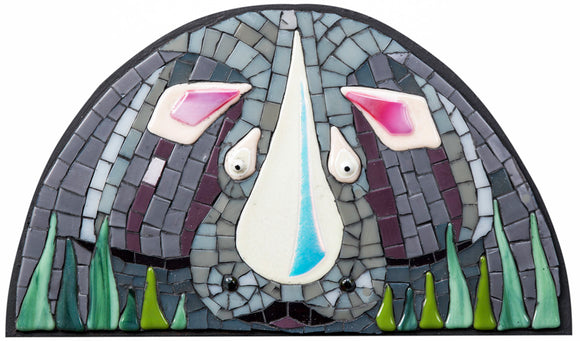 Mosaic picture by Martin Cheek 'A Restless Rhino'
