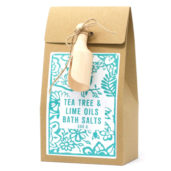 Himalayan bath salts scented 'Tea Tree & Lime' by Agnes & Cat