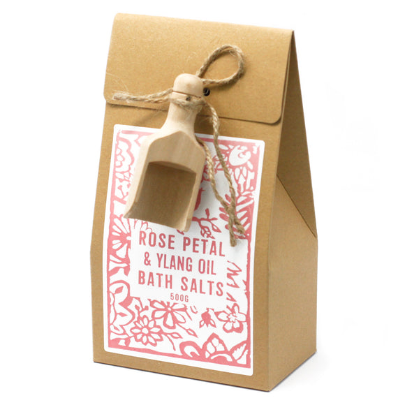 Himalayan bath salts scented 'Rose and Ylang' by Agnes & Cat