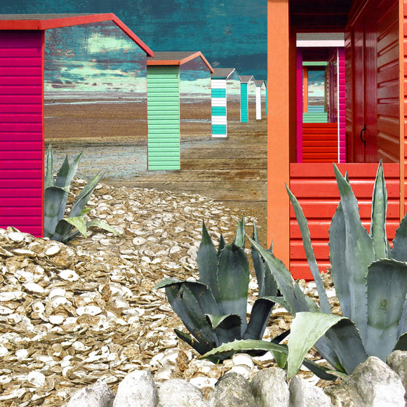Claire Gill cards - Seascape 33 - Beach Huts - Nice Things Ramsgate