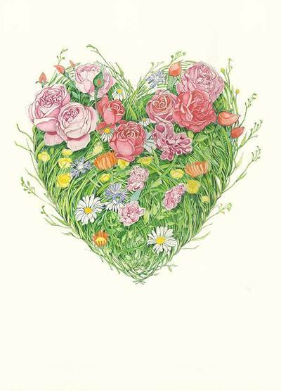 DM Collection greeting card Grass Heart