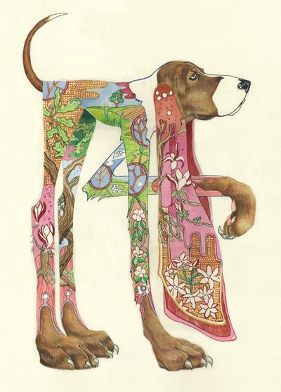 DM Collection greeting card Hound - Nice Things Ramsgate