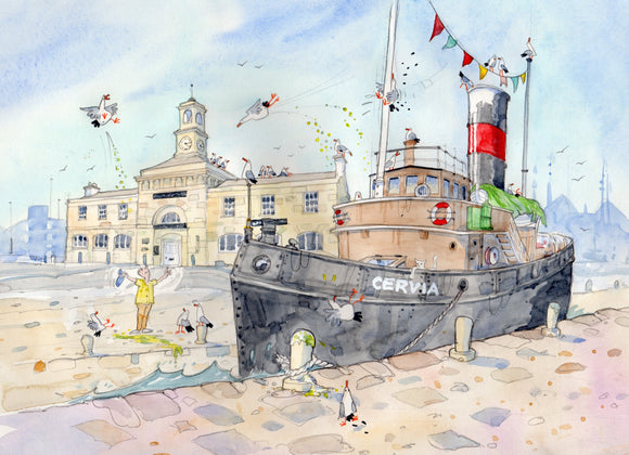 David Bailey: Steam Tug Cervia, Ramsgate Harbour - Nice Things Ramsgate