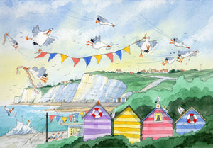 David Bailey: Seagulls and Flags