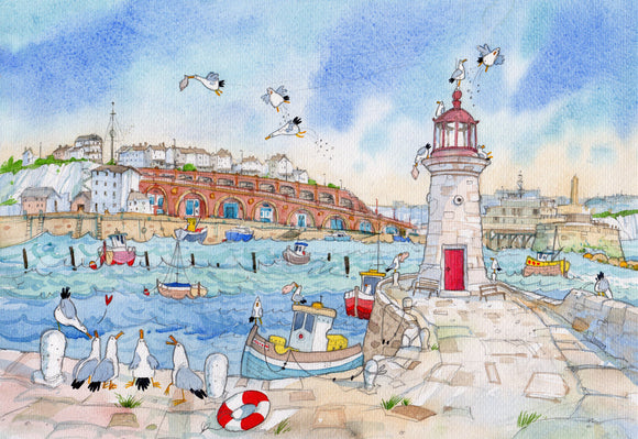 David Bailey: Ramsgate Lighthouse and Harbour Arches
