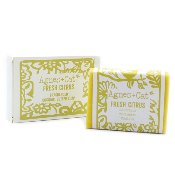 Agnes & Cat fragranced coconut butter soaps - Fresh Citrus