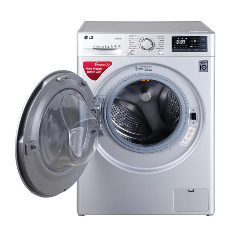 LG 8.0 Kg FHT1208SNL Luxury Silver Inverter Fully-Automatic Front Loading Washing Machine