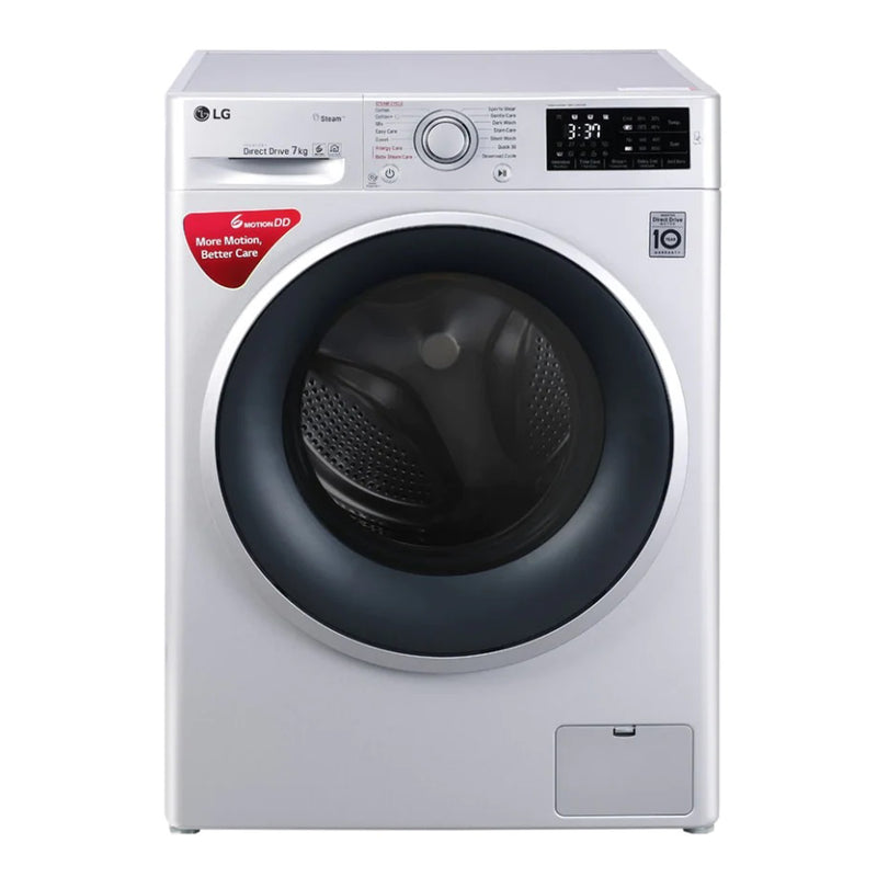 LG 7 kg Silver FHT1207SWL Inverter Fully-Automatic Front Loading Washing Machine