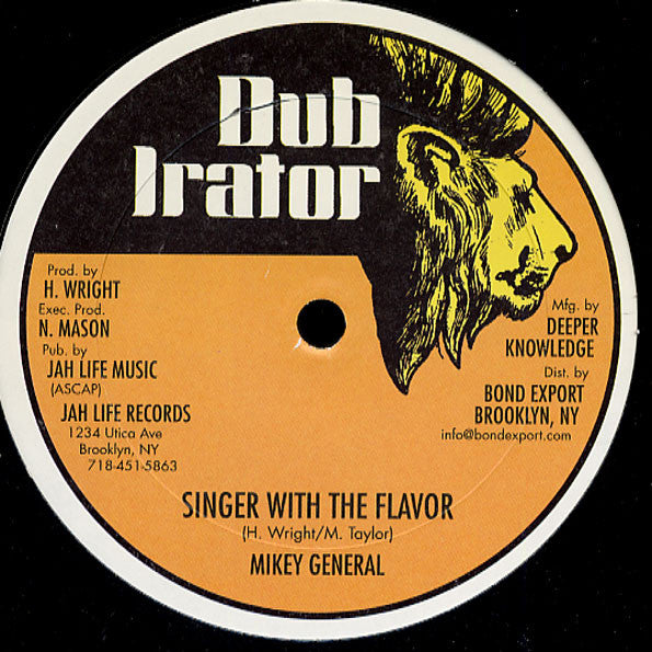 Mikey General ‎– Singer With The Flavor / Walker John