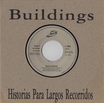 "Load image into Gallery viewer, Buildings ‎– Historias Para Largos Recorridos (7"")"