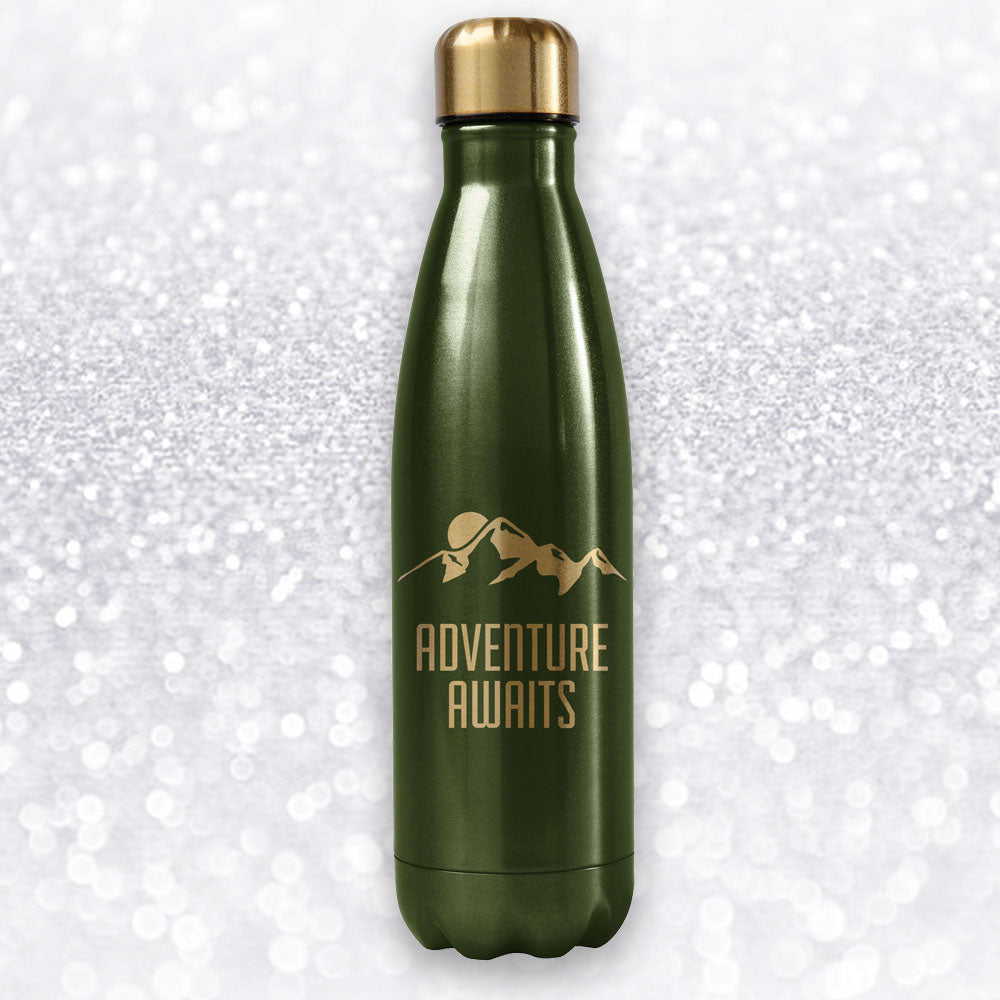 ADVENTURE AWAITS WATER BOTTLE