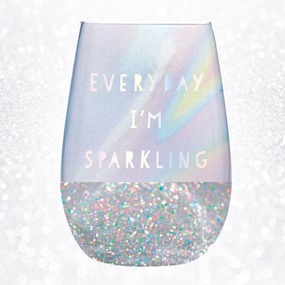 EVERYDAY I'M SPARKLING WINE GLASS