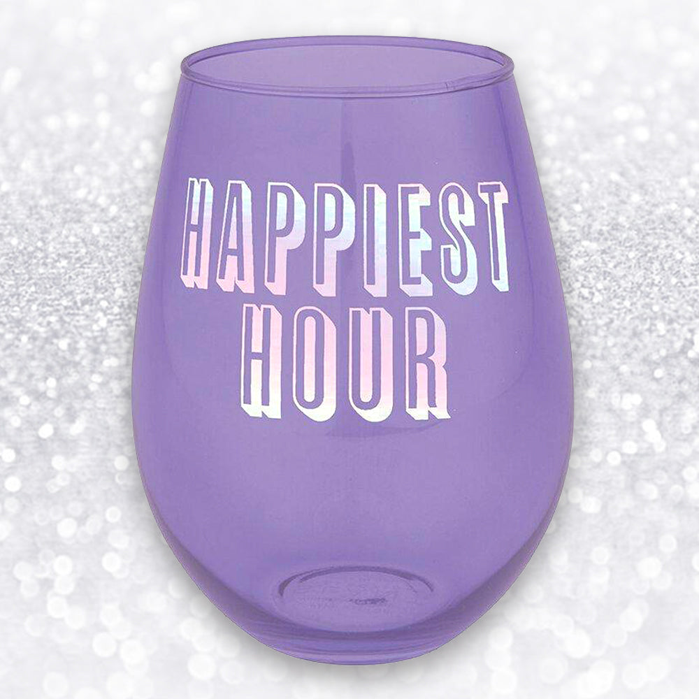 HAPPIEST HOUR JUMBO WINE GLASS