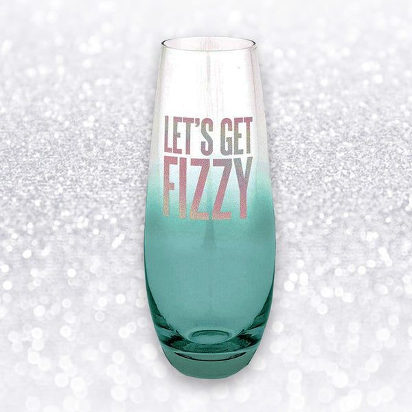 LET'S GET FIZZY CHAMPAGNE SINGLE GLASS