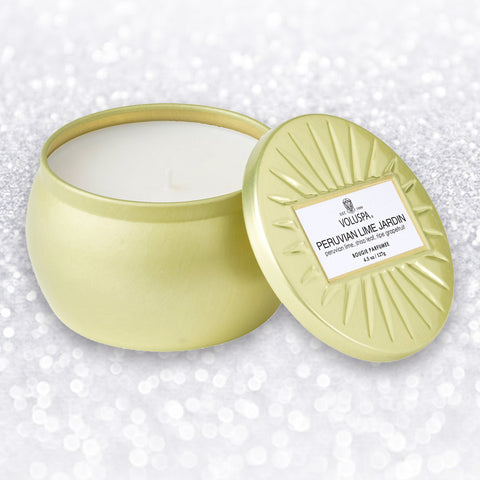PERUVIAN LIME JARDIN PETITE TIN CANDLE - by Voluspa