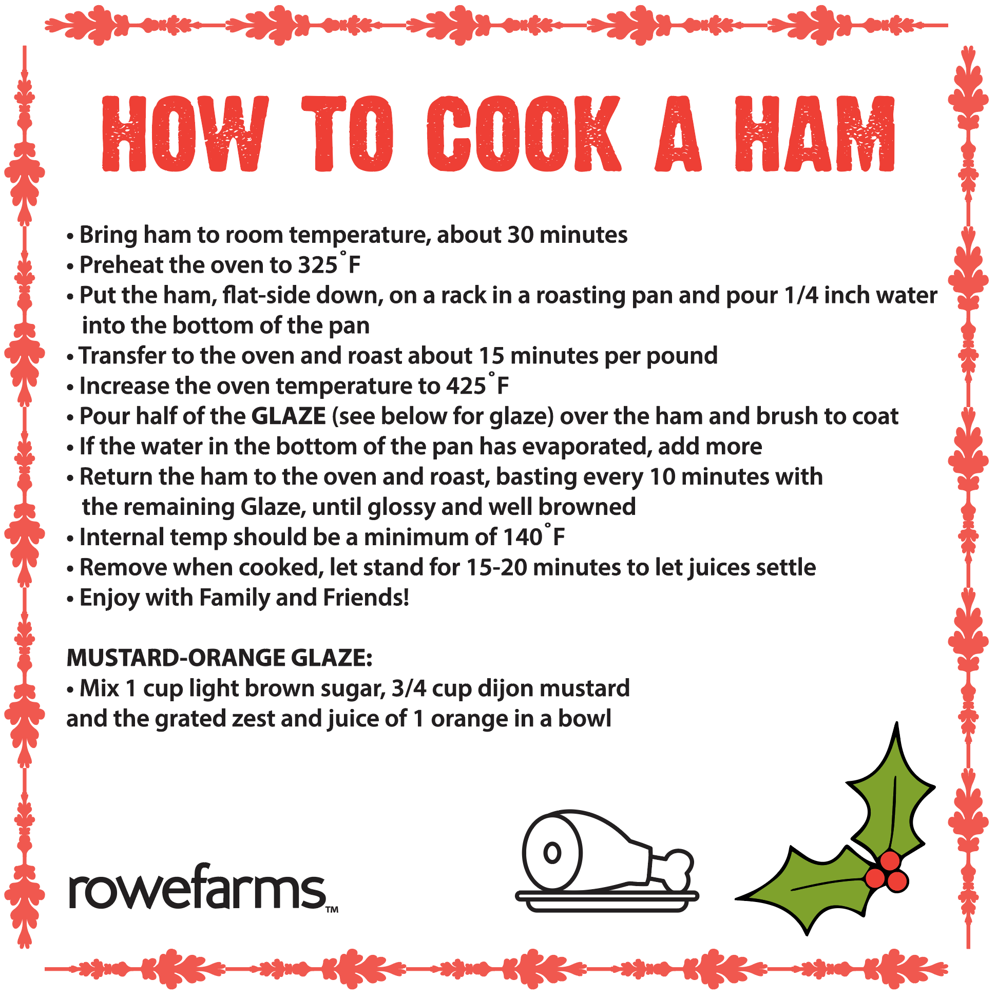 Ham cooking instructions