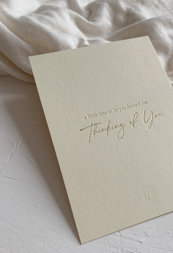 Keepsake Card - 'Thinking of You'