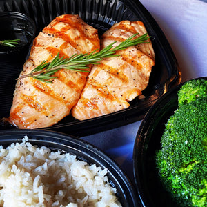 Rosemary Honey Glazed Salmon Steak