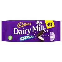 Cadbury Dairy Milk with Oreo £1 Chocolate Bar 120g