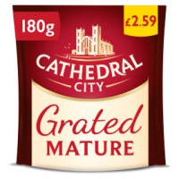 Cathedral City Grated Mature Cheese 180g