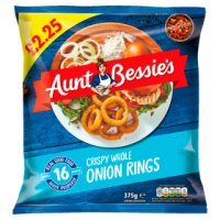 Aunt Bessie's Crispy Whole Onion Rings 375g