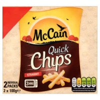 McCain Quick Chips Straight 2 x 100g