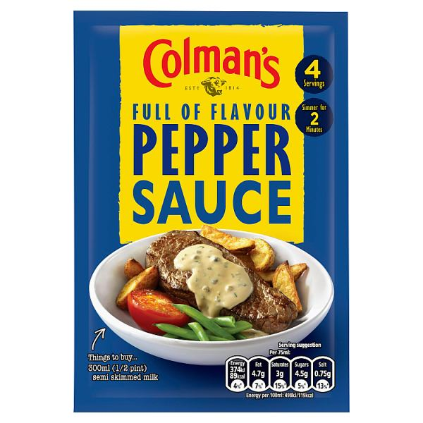 Colman's Pepper Sauce Mix 40g