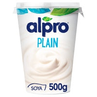 Alpro Plain Soya with Yogurt Cultures 500g