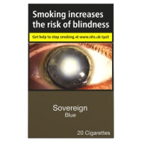 Sovereign Blue 20 Cigarettes Track & Trace Compliant