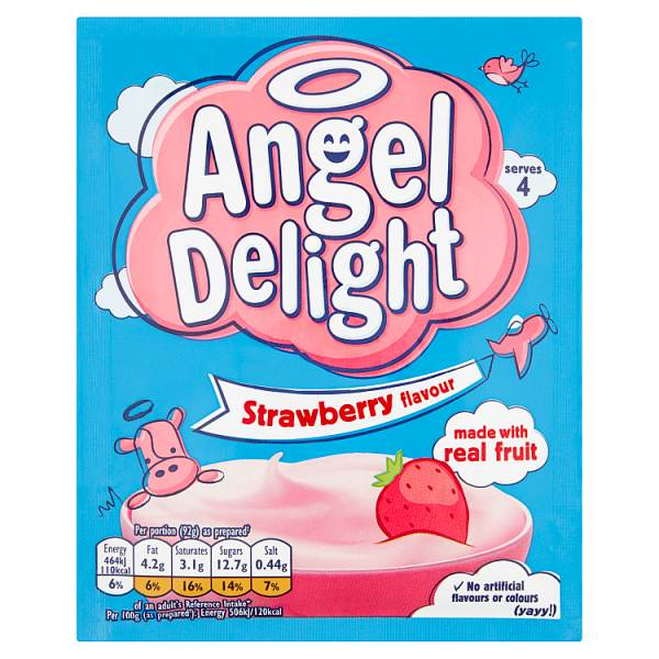 Angel Delight Strawberry Flavour Dessert 59g