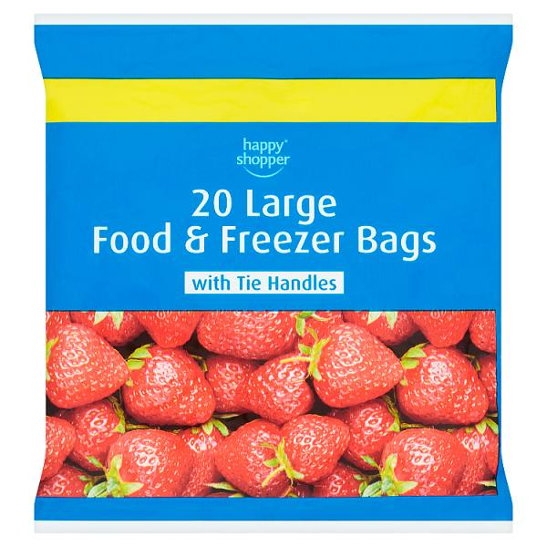 Happy Shopper 20 Large Food & Freezer Bags