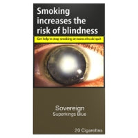 Sovereign Superkings Blue 20 Cigarettes Track & Trace Compliant