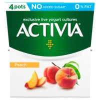 Activia Peach No Added Sugar 0% Fat Yogurt