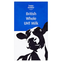 Happy Shopper British Whole UHT Milk 1 Litre