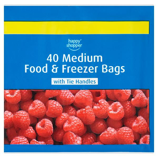 Happy Shopper 40 Medium Food & Freezer Bags
