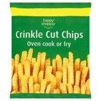 Happy Shopper Crinkle Cut Chips 750g