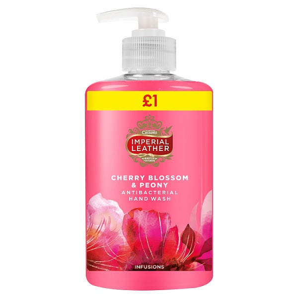 Imperial Leather Cherry Blossom & Peony Infusions Antibacterial Hand Wash 300ml