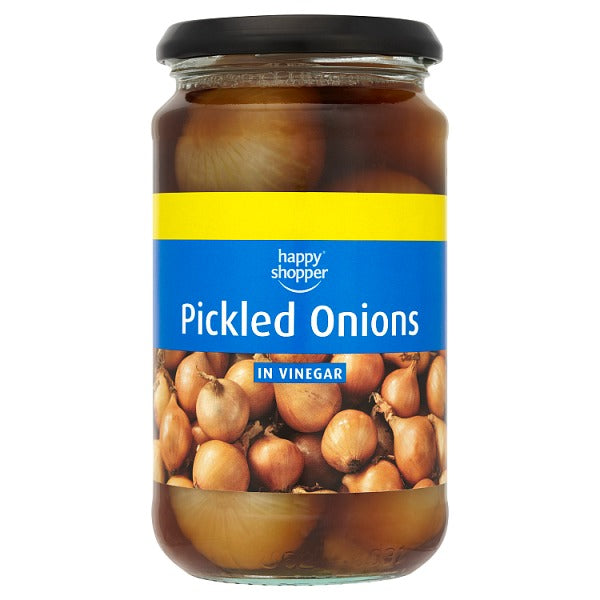 Happy Shopper Pickled Onions in Vinegar 440g (Drained Weight 225g)