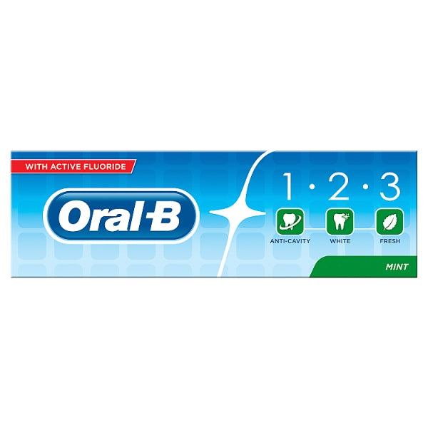 Oral-B 123 Fresh Mint Toothpaste 75ml