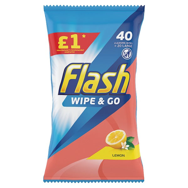 Flash All Purpose Wipes For Fast And Powerful Cleaning Lemon