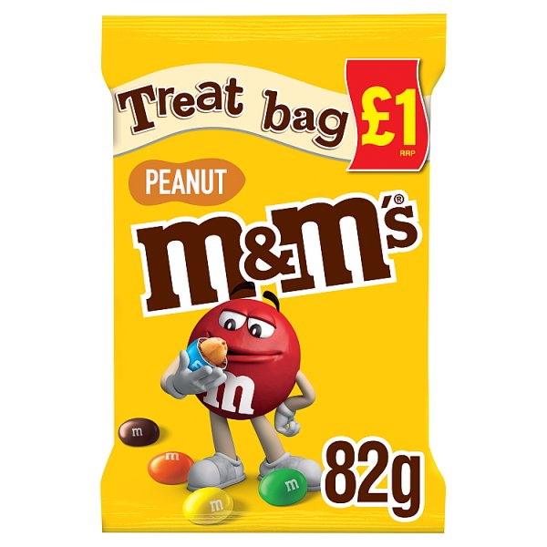 M&M's Peanut Chocolate Price Marked Treat Bag 82g