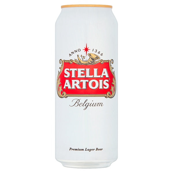 Stella Artois Lager Beer Cans 500ml