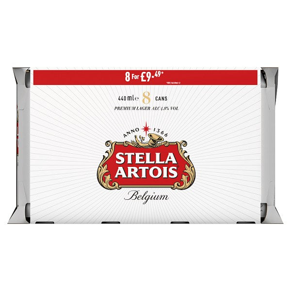Stella Artois Lager Beer Cans  440ml