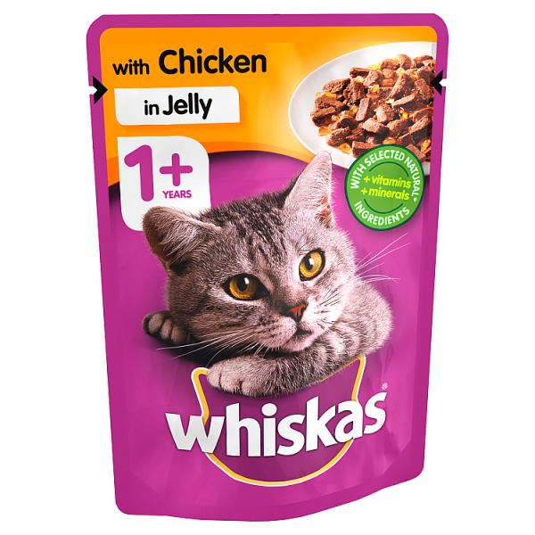 Whiskas Chicken in Jelly Wet Adult 1+ Cat Food Pouches 100g
