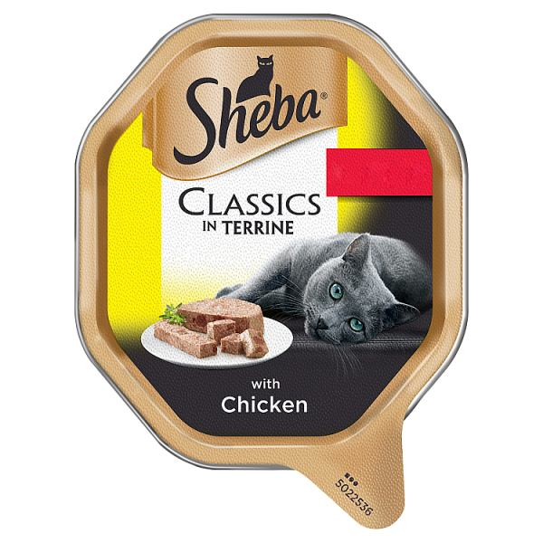 SHEBA Classics Cat Tray with Chicken in Terrine 85g